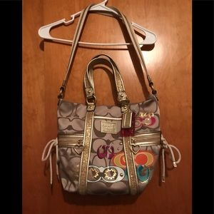 Coach daisy pop c applique multi spotlight bag
